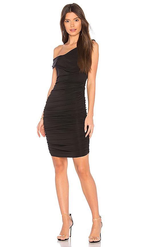 KENDALL + KYLIE Off Shoulder Twist Dress in Black