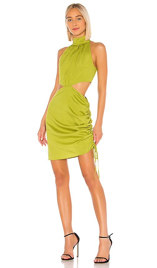 Kendall + Kylie Cobain Dress In Green. In Citrine