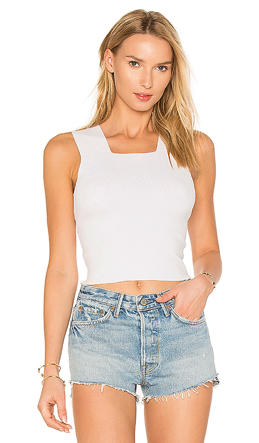 KENDALL + KYLIE Cross Back Tank in White