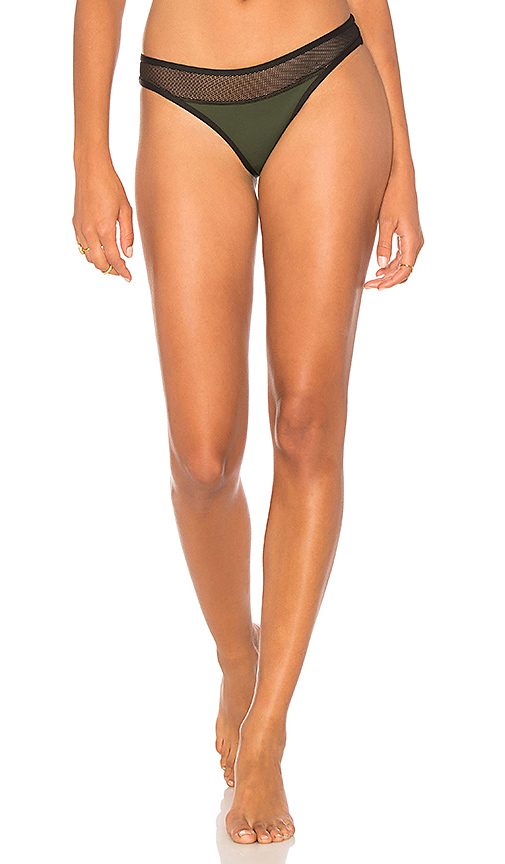 KENDALL + KYLIE X REVOLVE Mesh Mix Cheeky Bottom in Green