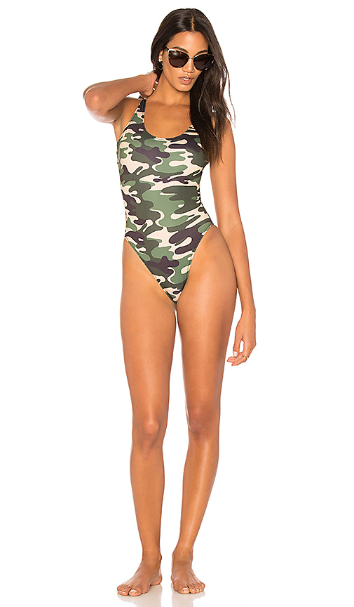KENDALL + KYLIE X REVOLVE Low Back One Piece in Green