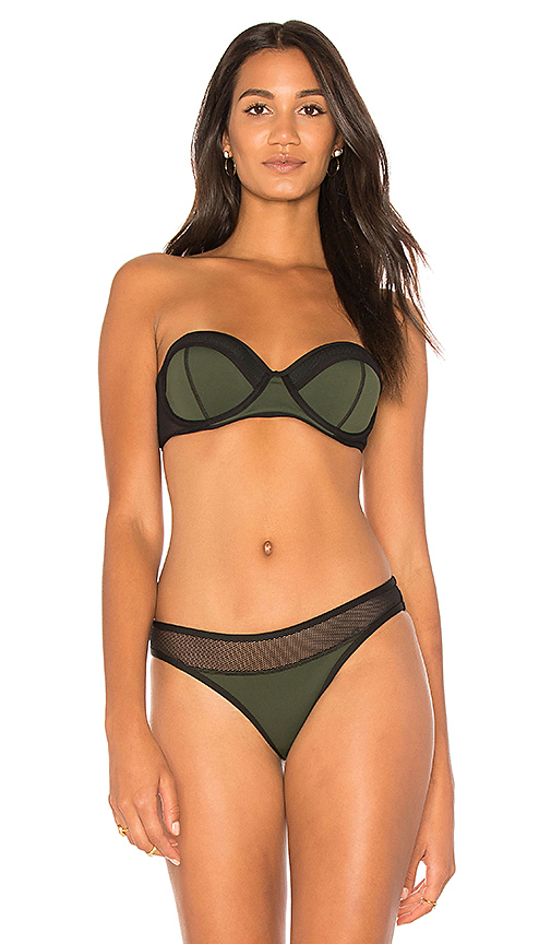 KENDALL + KYLIE X REVOLVE Mesh Mix Bustier Top in Green