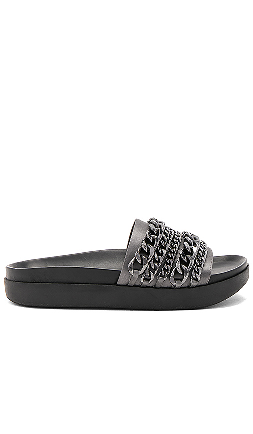 KENDALL + KYLIE Shiloh Slide in Charcoal