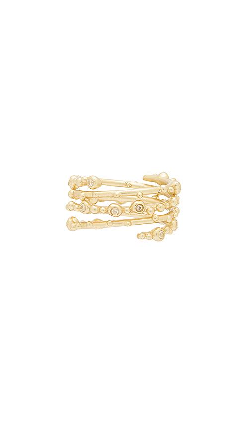 Kendra Scott Zoe Ring Set in Metallic Gold. - size M/L (also in S/M)