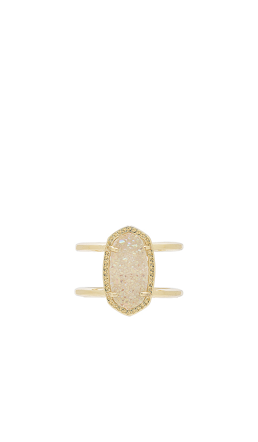Kendra Scott Elyse Ring in Metallic Gold. - size 6 (also in 7)