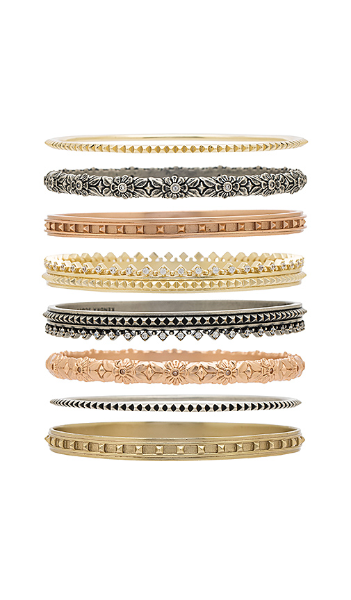 Kendra Scott Evie Bangle Set of 8 in Metallic Gold