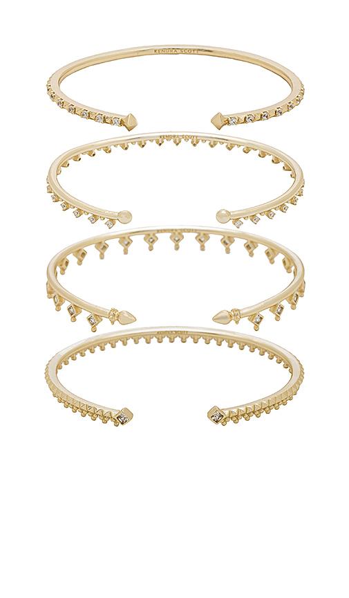 Kendra Scott Delphine Pinch Bracelet Set of 4 in Metallic Gold