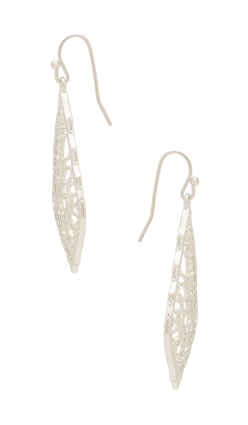 Kendra Scott Addie Earring in Metallic Silver.