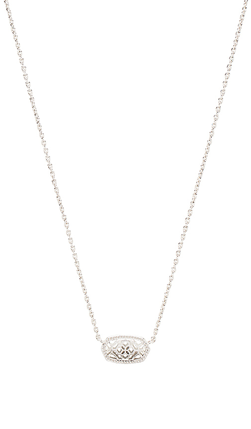 Kendra Scott Elisa Brie Necklace in Metallic Silver