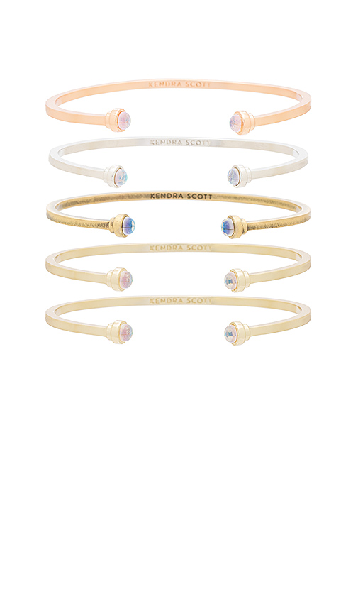Kendra Scott Kriss Set of 5 Bracelets in Metallic Gold