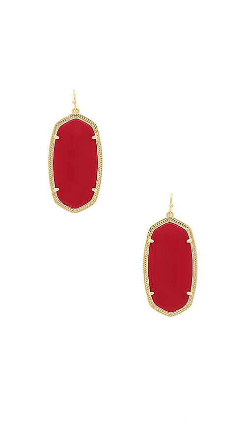 Kendra Scott Danielle Earring in Red