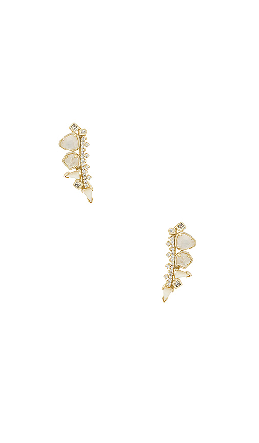 Kendra Scott Clarissa Ear Climber in Metallic Gold