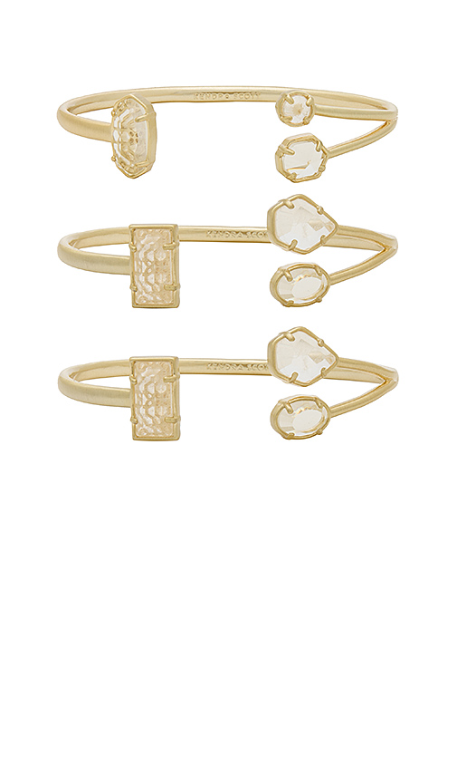 Kendra Scott Cammy Pinch Bracelet Set of 3 in White