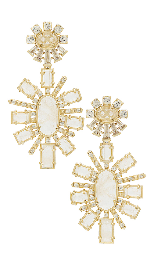 Kendra Scott Glenda Statement Earrings in Metallic Gold