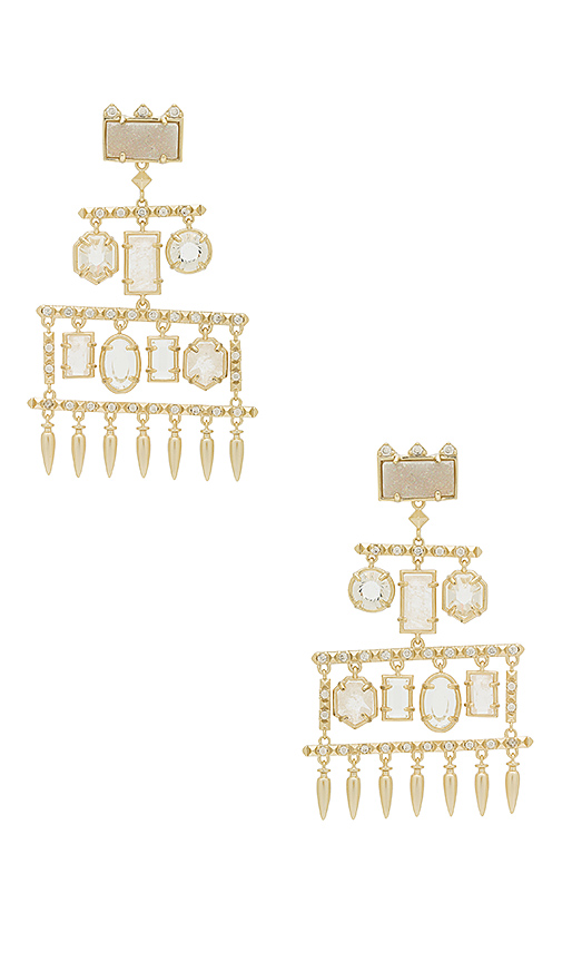 Kendra Scott Emmylou Statement Earrings in Metallic Gold