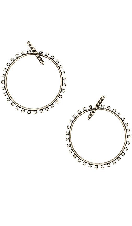 Kendra Scott Charlie Grace Hoop Earrings in Metallic Silver