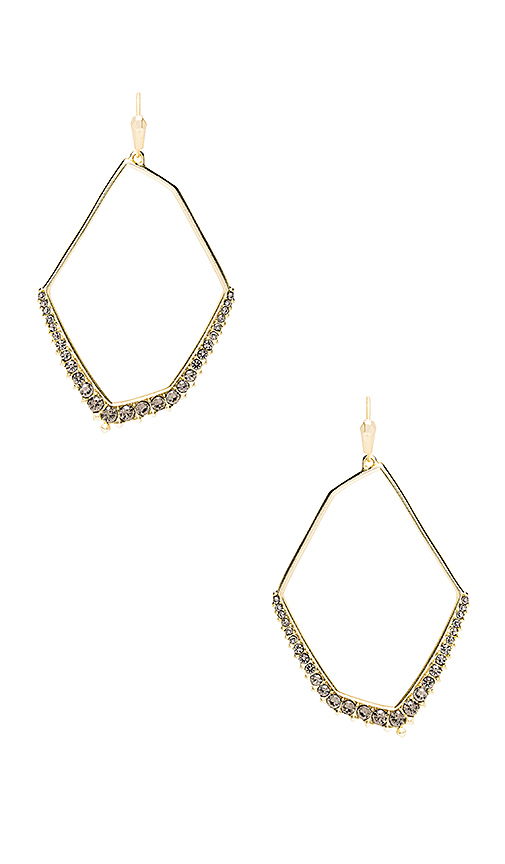 Kendra Scott Nell Earrings in Metallic Gold.