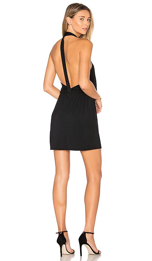 krisa Cross Front Mini Dress in Black