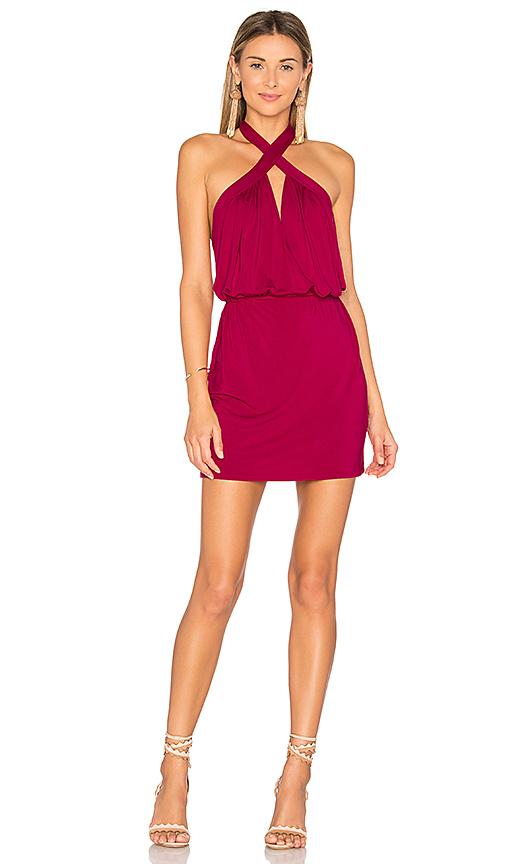 krisa Cross Front Mini Dress in Pink
