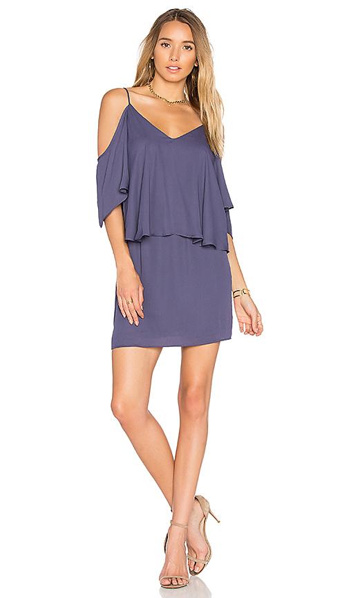 krisa Layered Dress in Purple