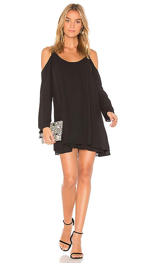 krisa Cold Shoulder Dress in Black