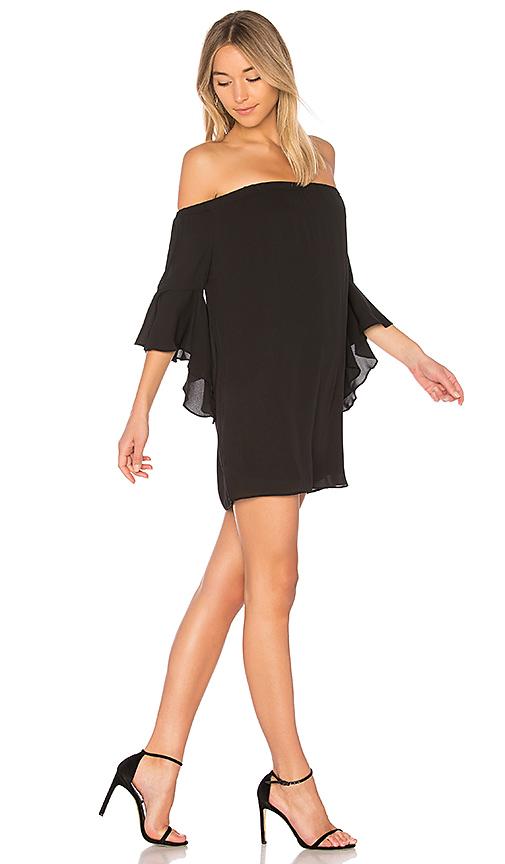 krisa Off Shoulder Dress in Black