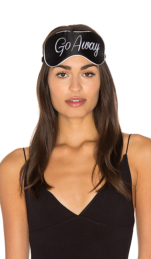 KISSKILL Cheyenne Go Away Eye Mask in Black & White