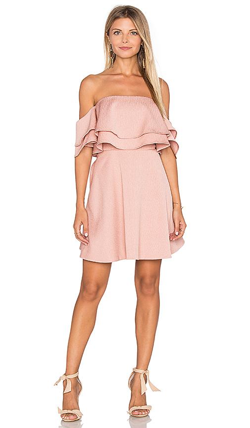 keepsake Two Fold Mini Dress in Pink. - size L (also in XS)
