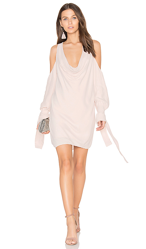 keepsake Twin Peaks Mini Dress in Blush