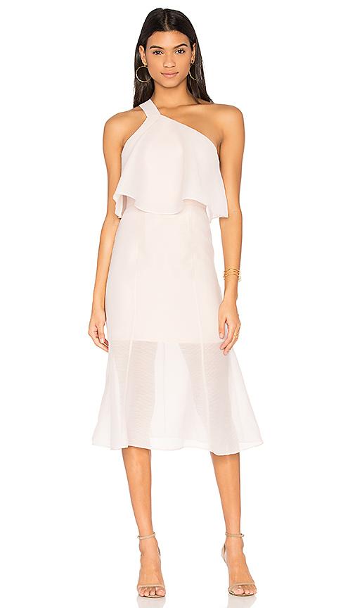 keepsake Float Midi Dress in Blush