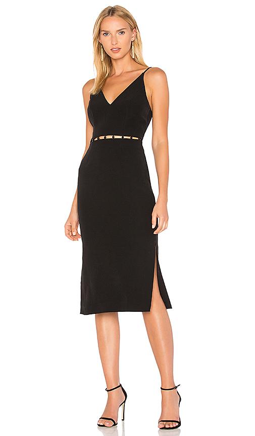 keepsake Signals Midi Dress in Black