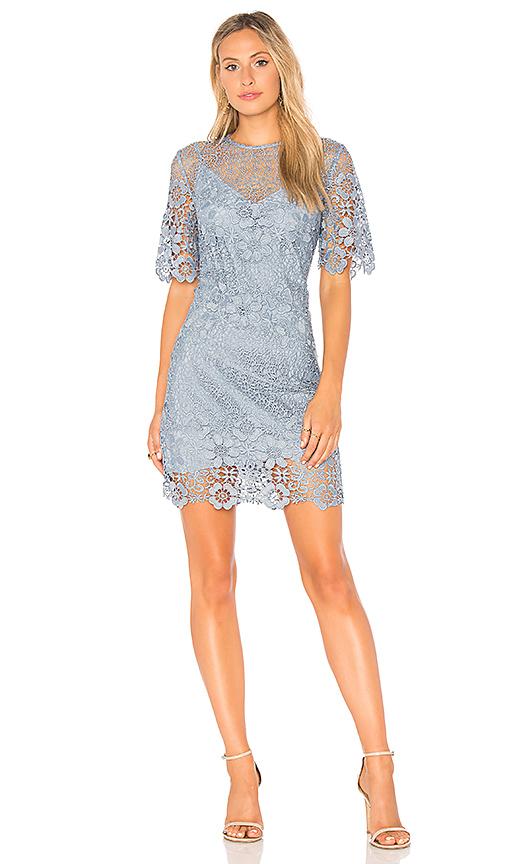 keepsake Reach Out Mini Dress in Blue