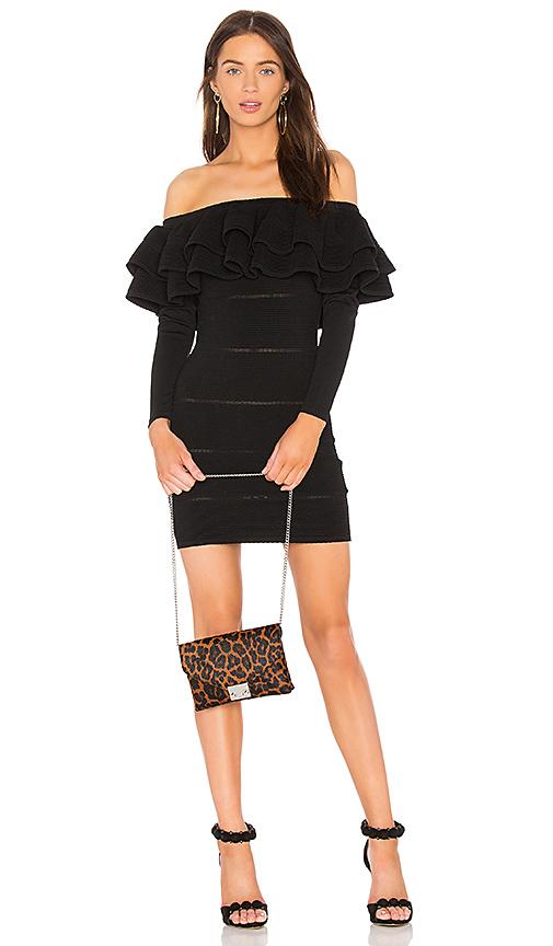 keepsake Over Time Knit Dress in Black. - size S (also in L,M,XS, XXS)