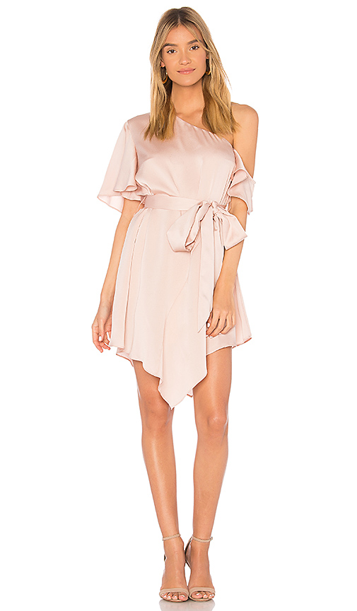 keepsake Transcend Mini Dress in Blush