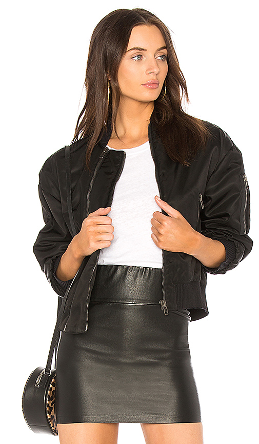 Kenzo Double Zipped Bomber in Black