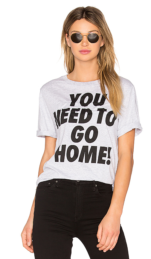 Kenzo Single Jersey You Need To Go Home Tee in Gray