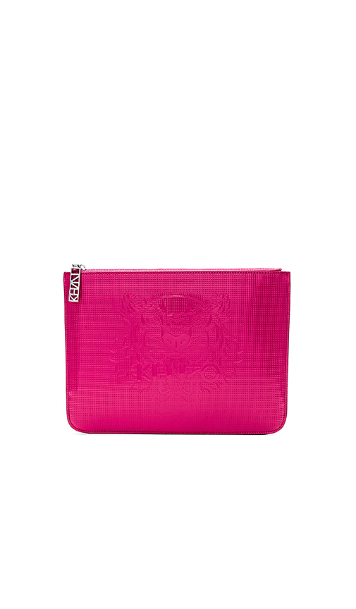 Kenzo Large Pouch in Fuchsia