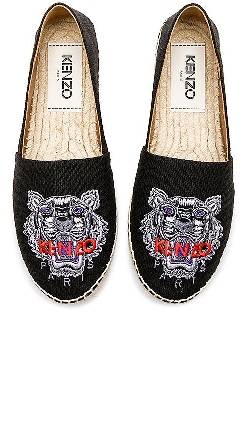 Kenzo Classic Tiger Espadrille in Black
