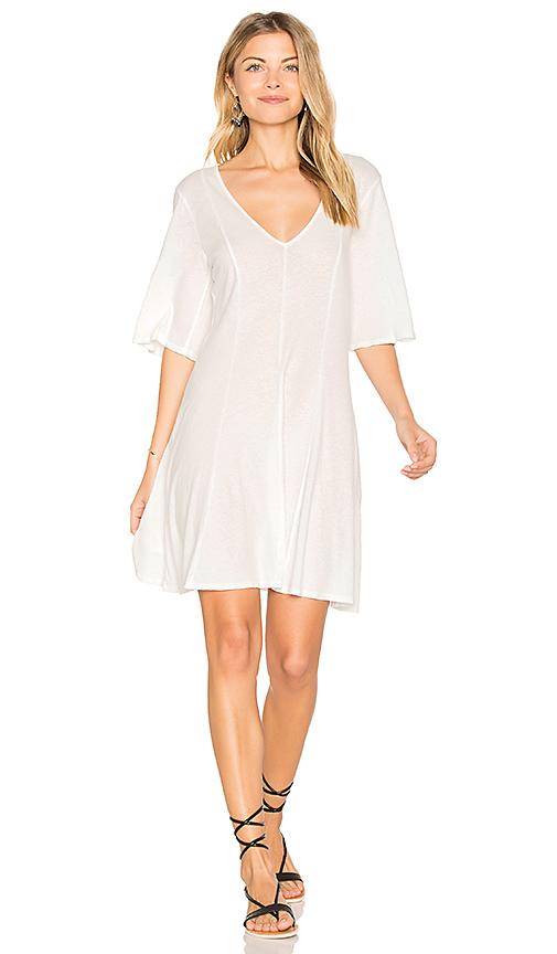 LACAUSA Billie Mini Dress in White