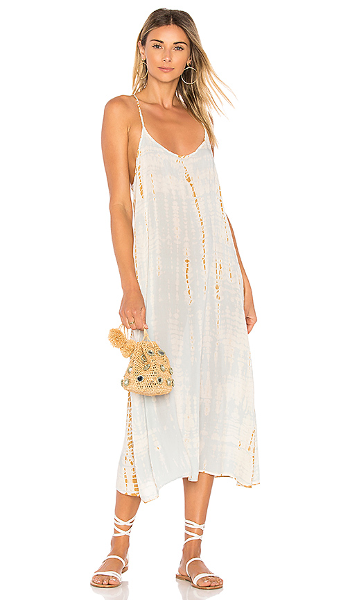 LACAUSA Racer Slip Dress in Baby Blue