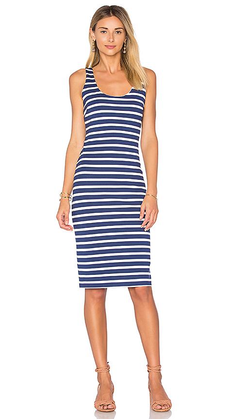 L'AGENCE Roxanne Tank Dress in Blue