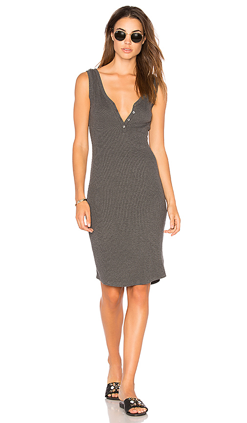 L'AGENCE Everly Dress in Gray