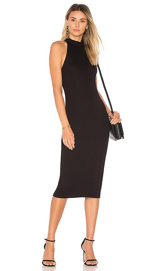L'AGENCE Iman Dress in Black