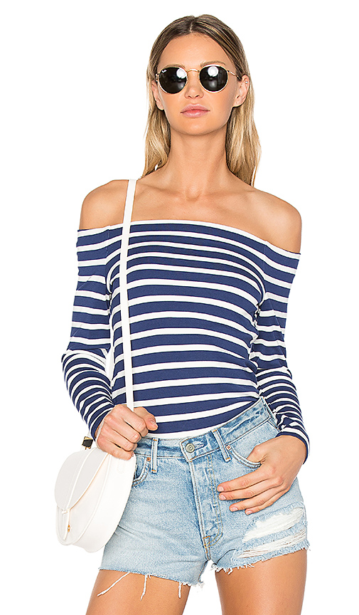 L'AGENCE Cynthia Top in Navy