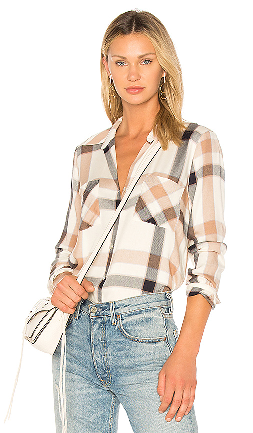 L'AGENCE Jacqueline Shirt in Tan