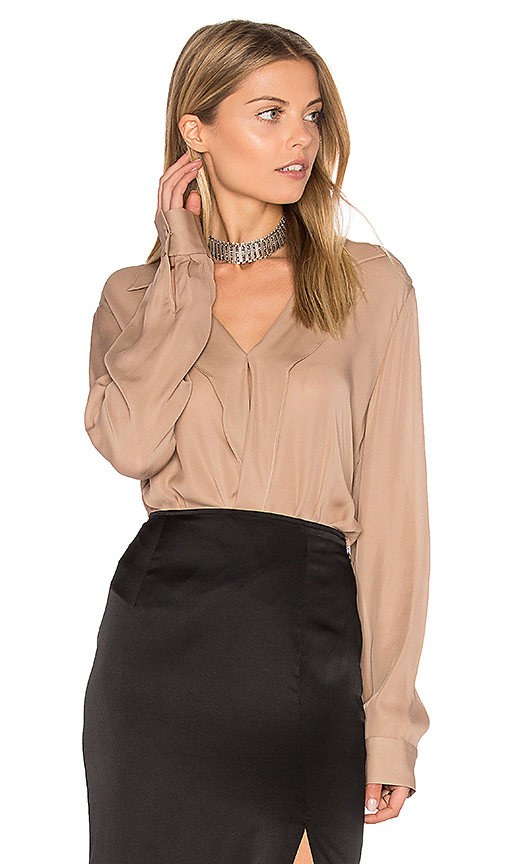 L'AGENCE Rita Blouse in Pink. - size L (also in XS)
