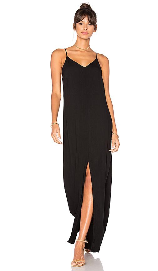 LA Made Kate Slip Dress in Black
