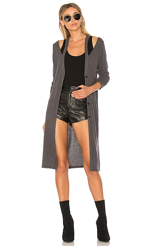 LA Made Gwen Cardigan in Charcoal. - size L (also in M,S,XS)