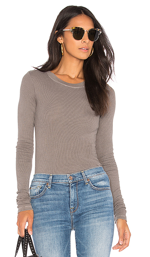 LA Made Long Sleeve Thermal Top in Olive
