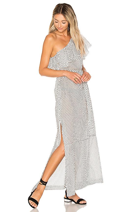 Lisa Marie Fernandez Arden Flounce Dress in Black & White